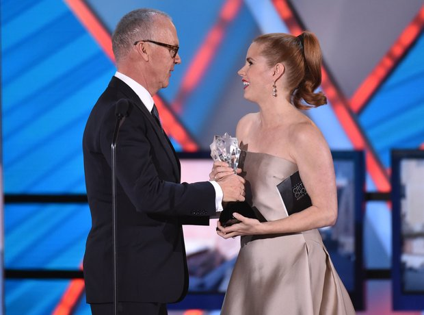 Michael Keaton and Amy Adams at Critics' Choice Mo