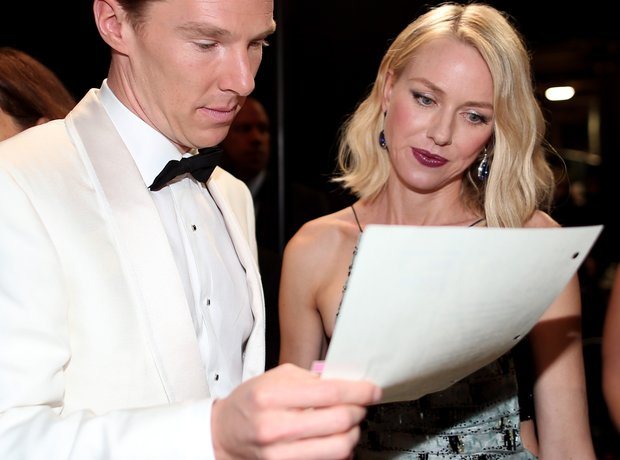 Benedict Cumberbatch and Naomi Watts backstage
