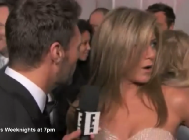 Jennifer Aniston gets pinched by Reese Witherspoon