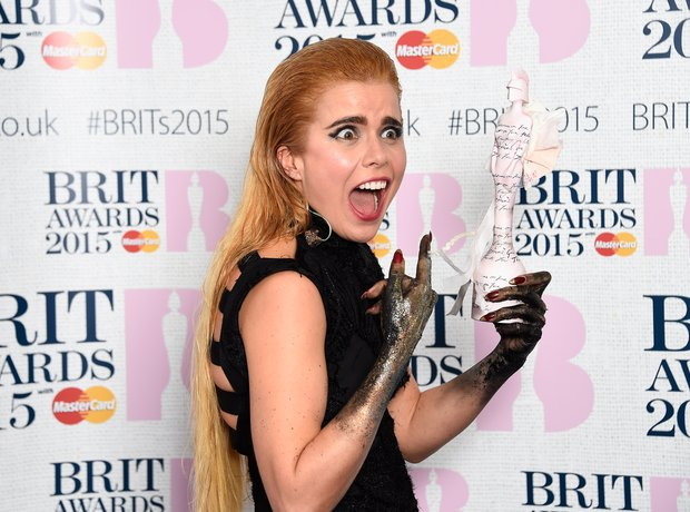 Paloma Faith BRIT Awards  2015 Backstage
