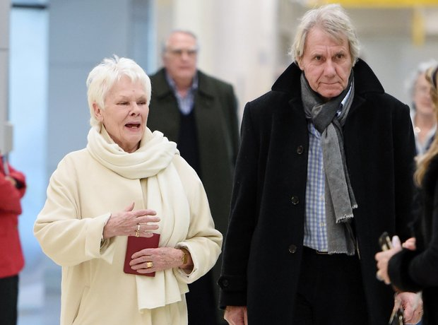Dame Judi Dench with boyfriend David Mills