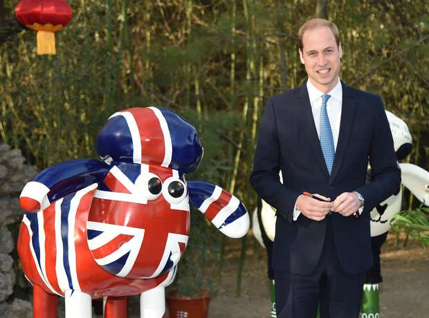 Prince William paints Shaun the Sheep at the Briti