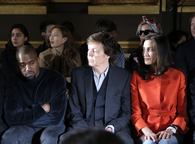 Kayne West, Paul McCartney and Nancy Shevell