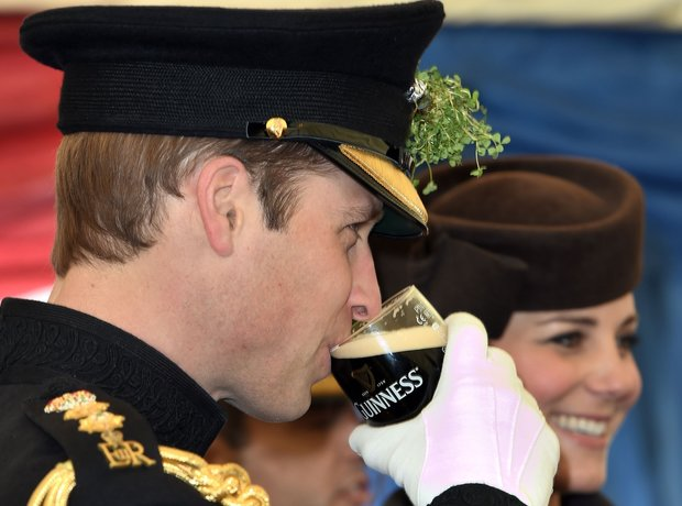 Prince Williams enjoying a St Patrick's Day tipple
