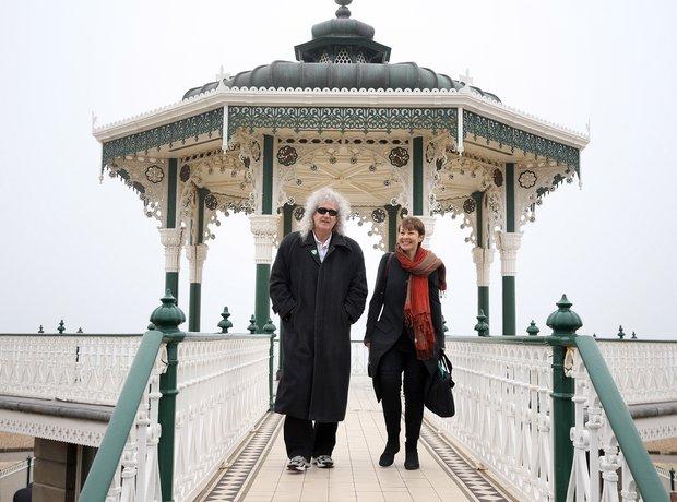 Brian May meets Caroline Lucas