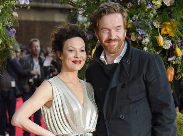 Helen McCrory and Damian Lewis attending the premi