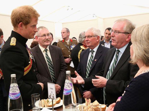 Prince Harry Met Families of War Heroes
