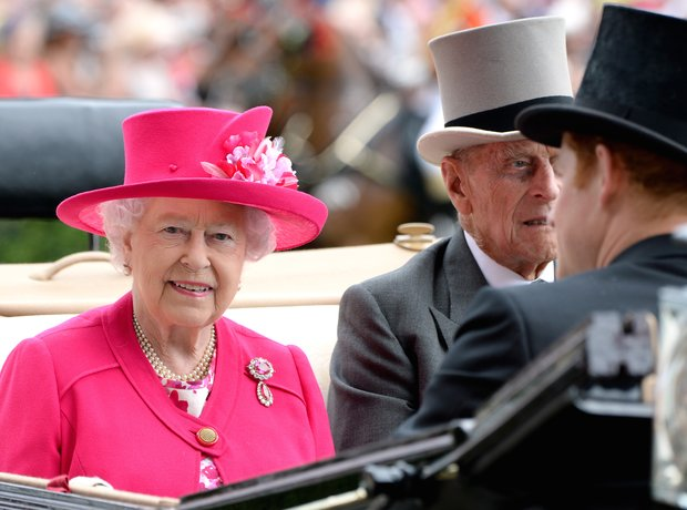 The Queen, Prince Philip, Prince Harry