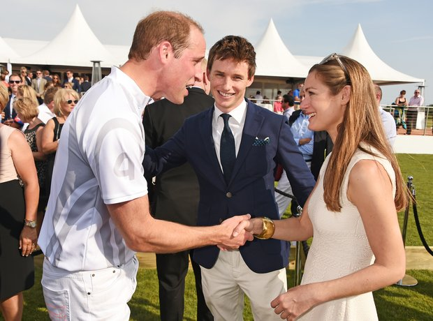 Prince William, Eddie Redmayne and Hannah Bagshawe