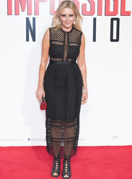 Carol Vorderman on the red carpet