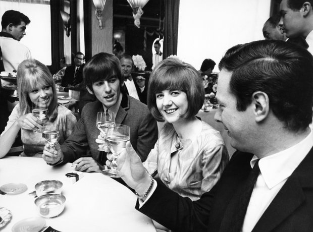 Cill Black, Patti Boyd, George Harrison, Brian Epstein