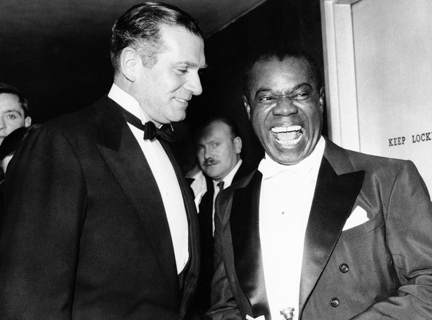 louis armstrong with Laurence Olivier
