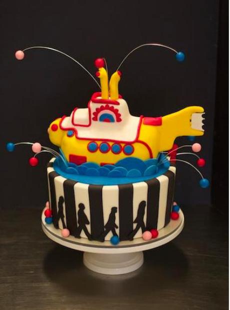 music inspired beatles cakes