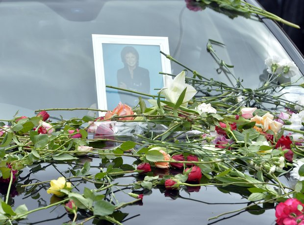 Cilla Black funeral pictures