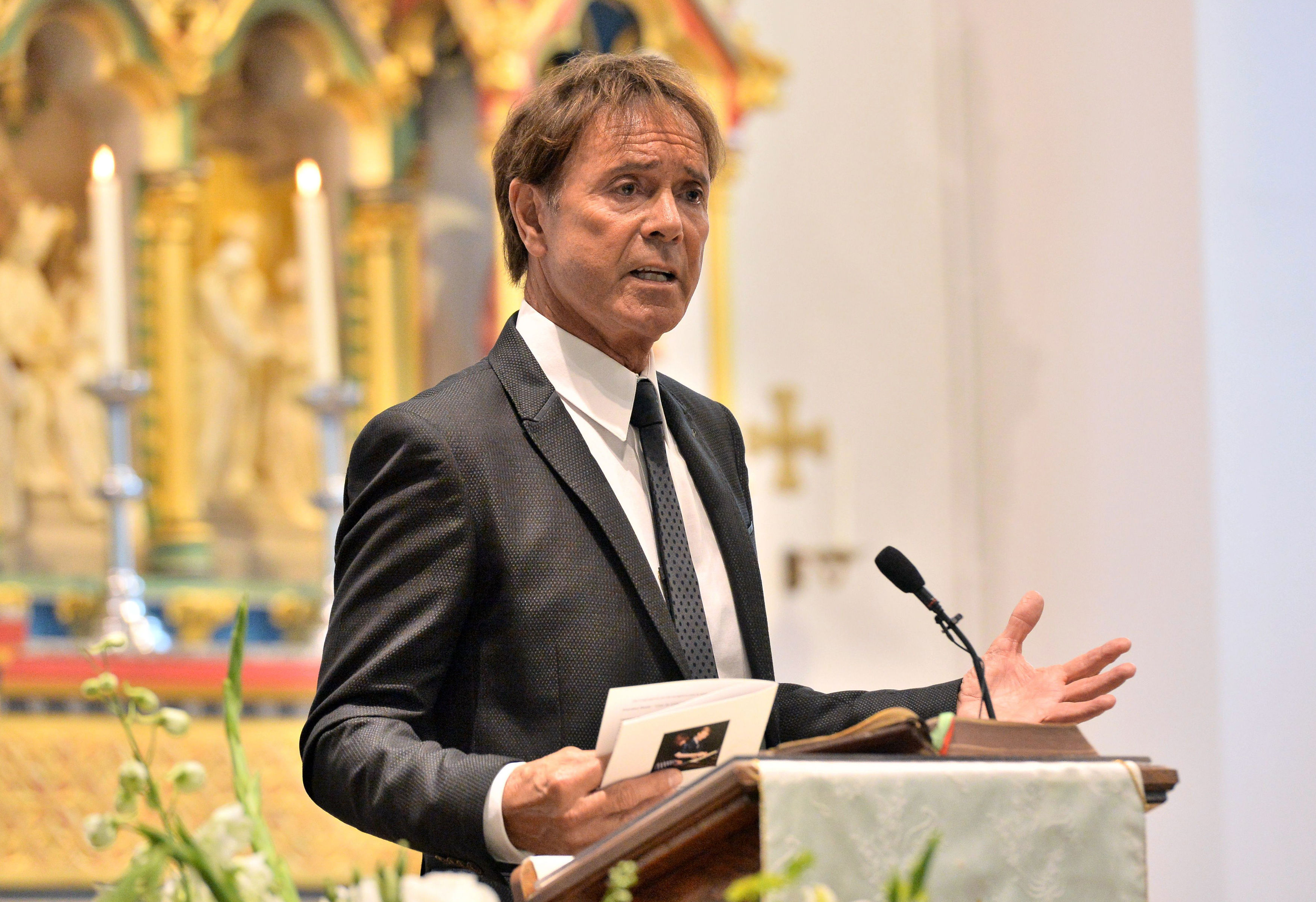Sir Cliff Richard Cilla Black funeral
