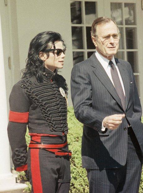 Michael Jackson Geroge H W Bush 1990