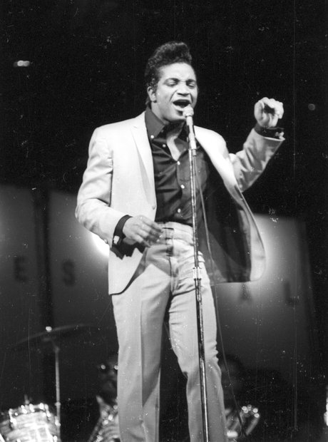 Jackie Wilson performing on stage