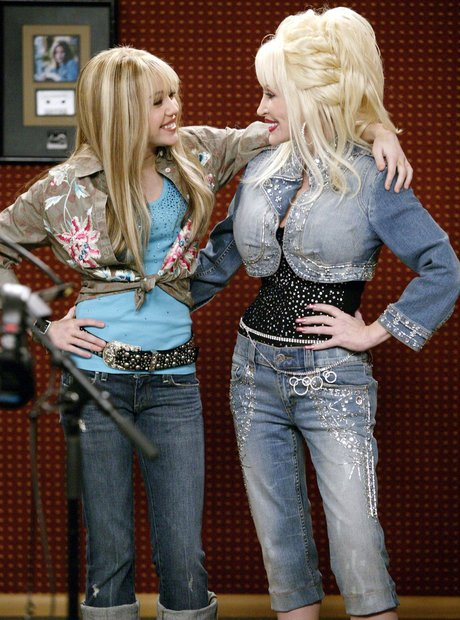 Miley Cyrus and Dolly Parton