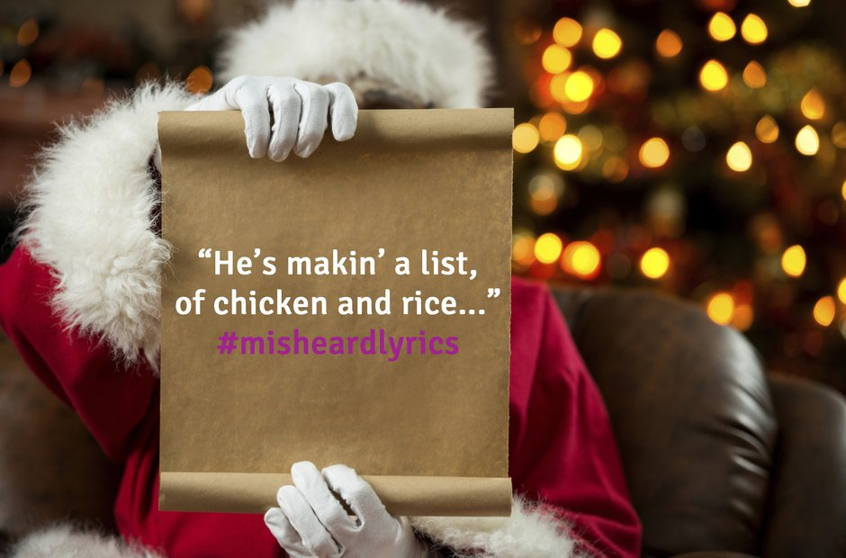 Misheard Christmas Lyrics