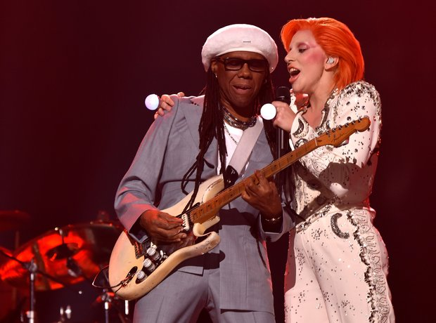 Lady Gaga and Nile Rodgers Grammy Awards 2016