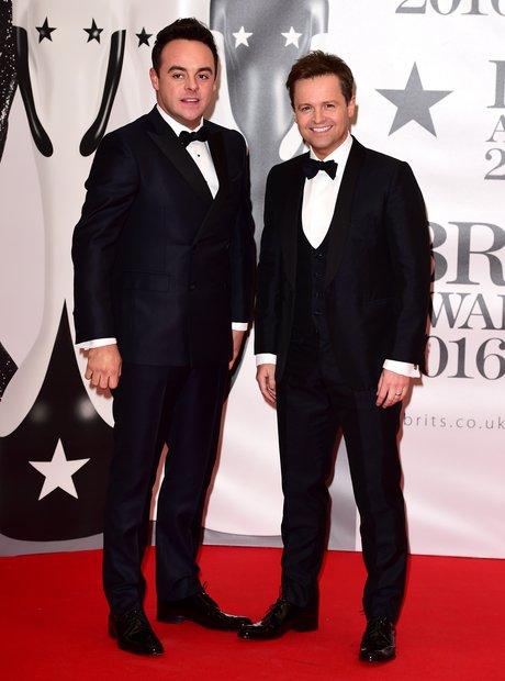Ant and Dec Red Carpet Arrivals Brit Awards 2016