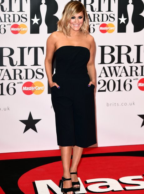 Caroline Flack Red Carpet Arrivals Brit Awards 201