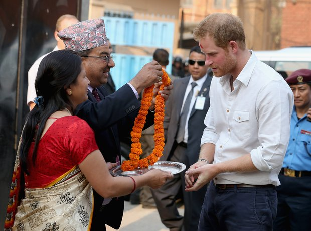 Prince Harry in Nepal March 2016