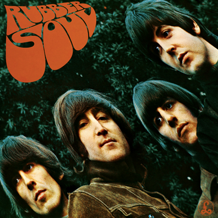Rubber Soul Beatles Album Cover