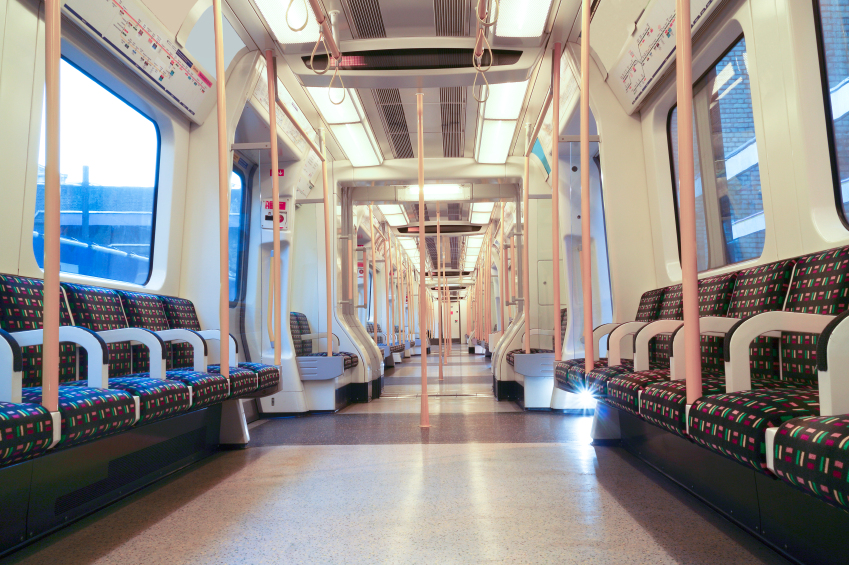 Empty London Underground Carriage