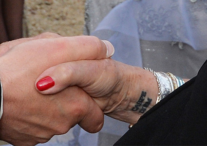 Judi dench tattoo up close