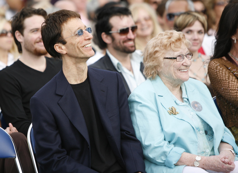 Robin Gibb and Barbara Gibb