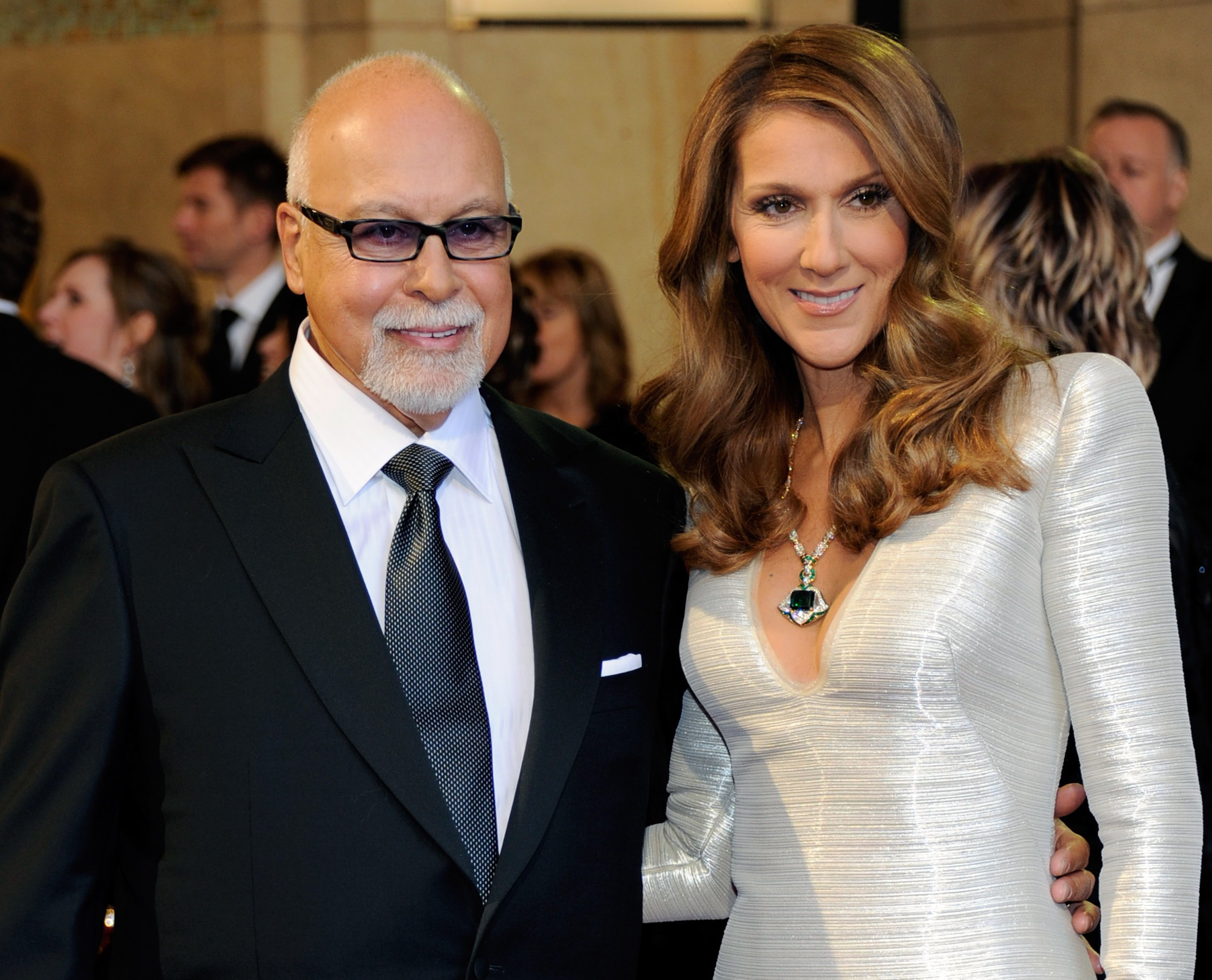 Rene Angelil and wife, singer Celine Dion