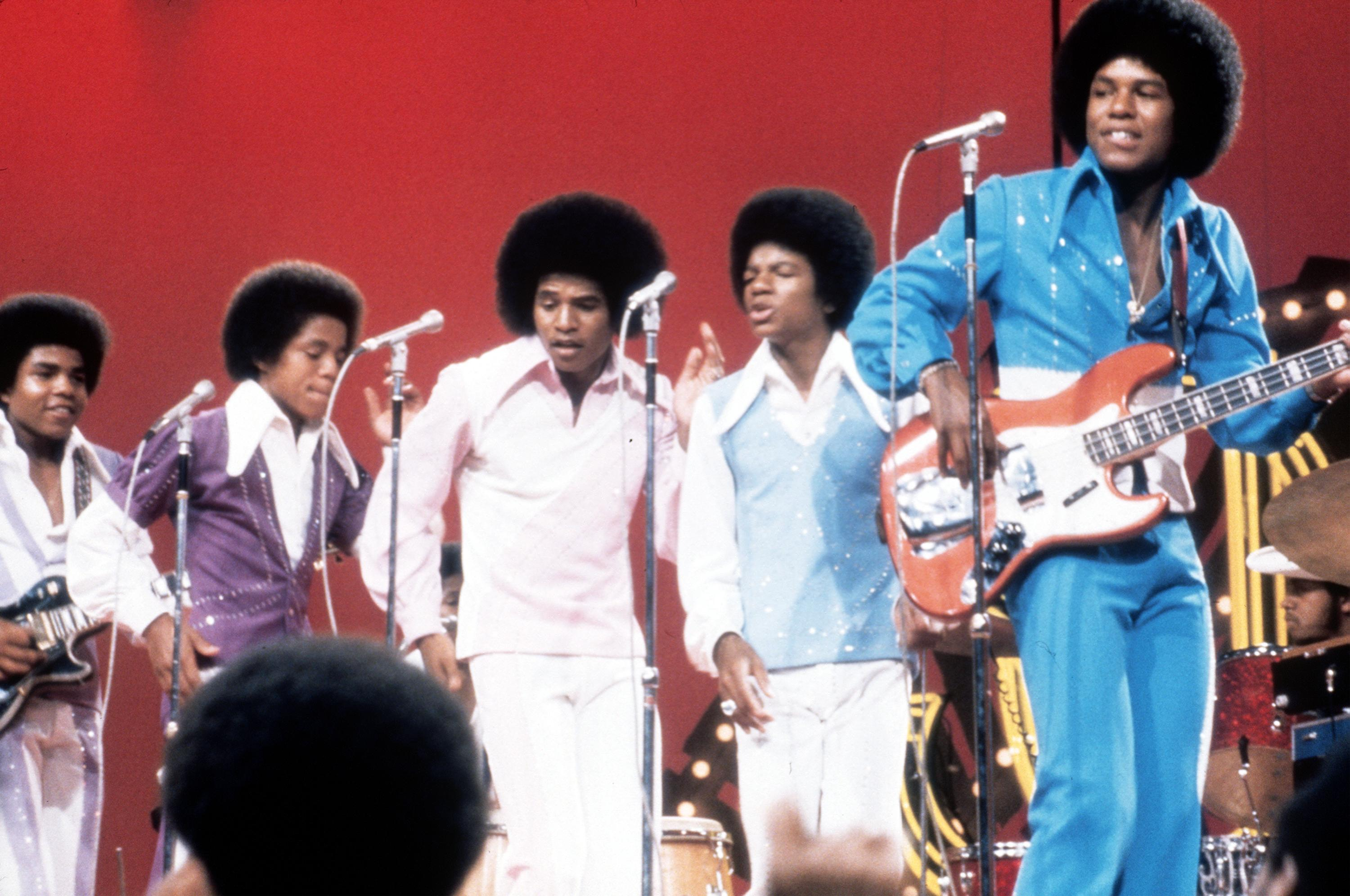 The Jacksons on stage