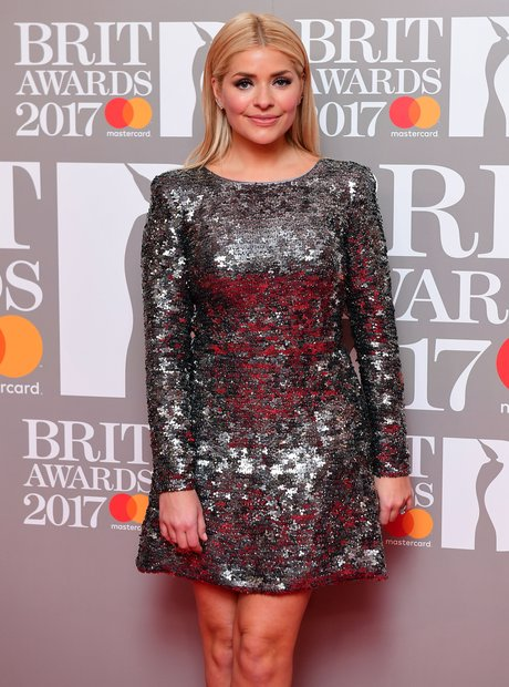 BRITs 2017 Red Carpet Arrivals Holly Willoughby