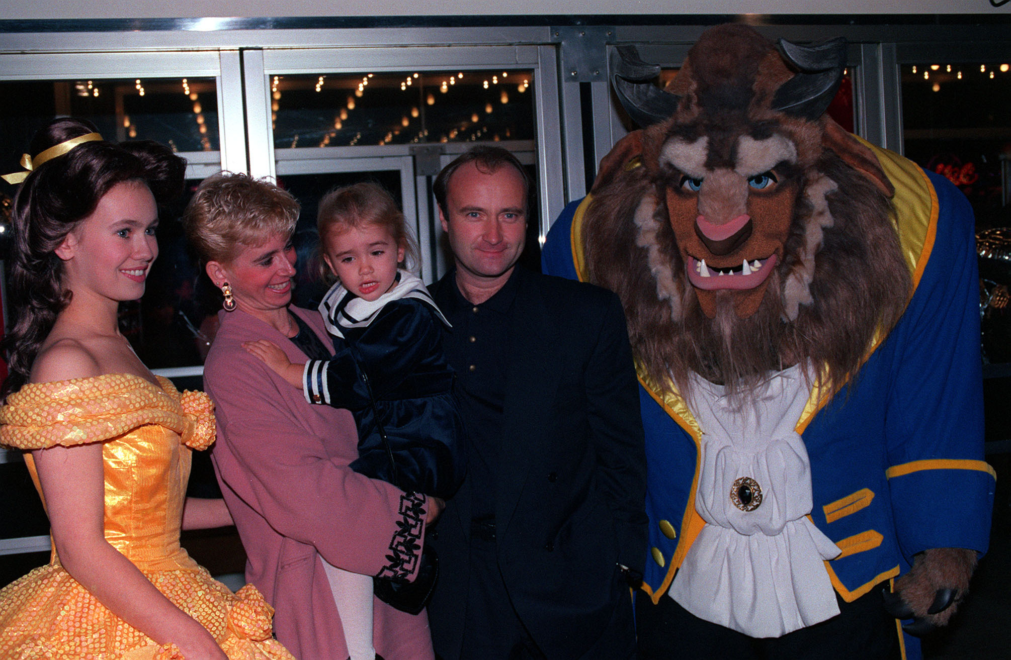 Phil Collins, wife Jill and daughter Lily
