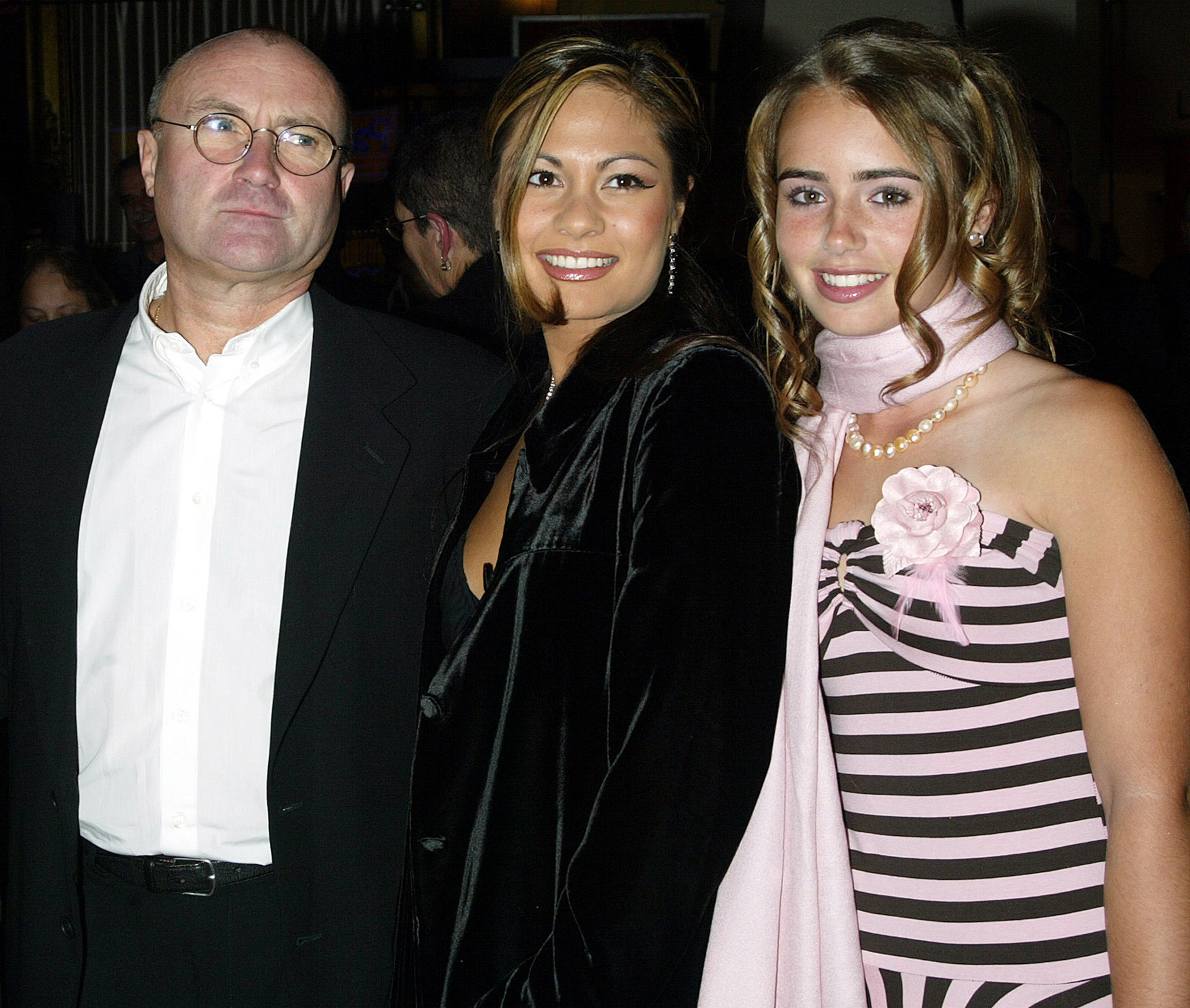 Phil Collins, wife Oriane, daughter Lily