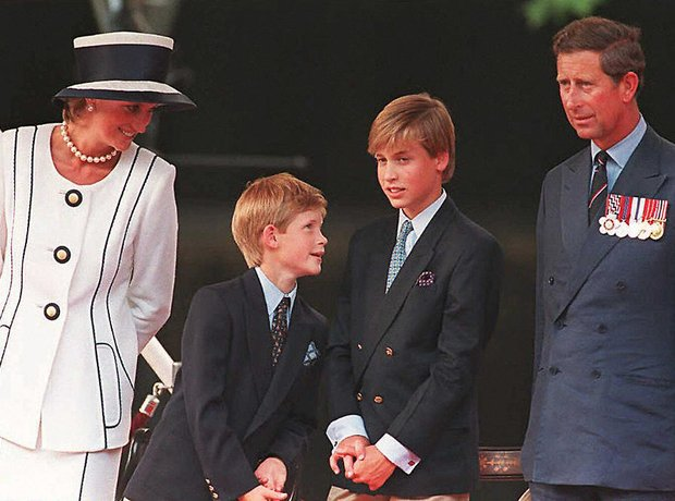 Diana, Charles, Prince William and Harry