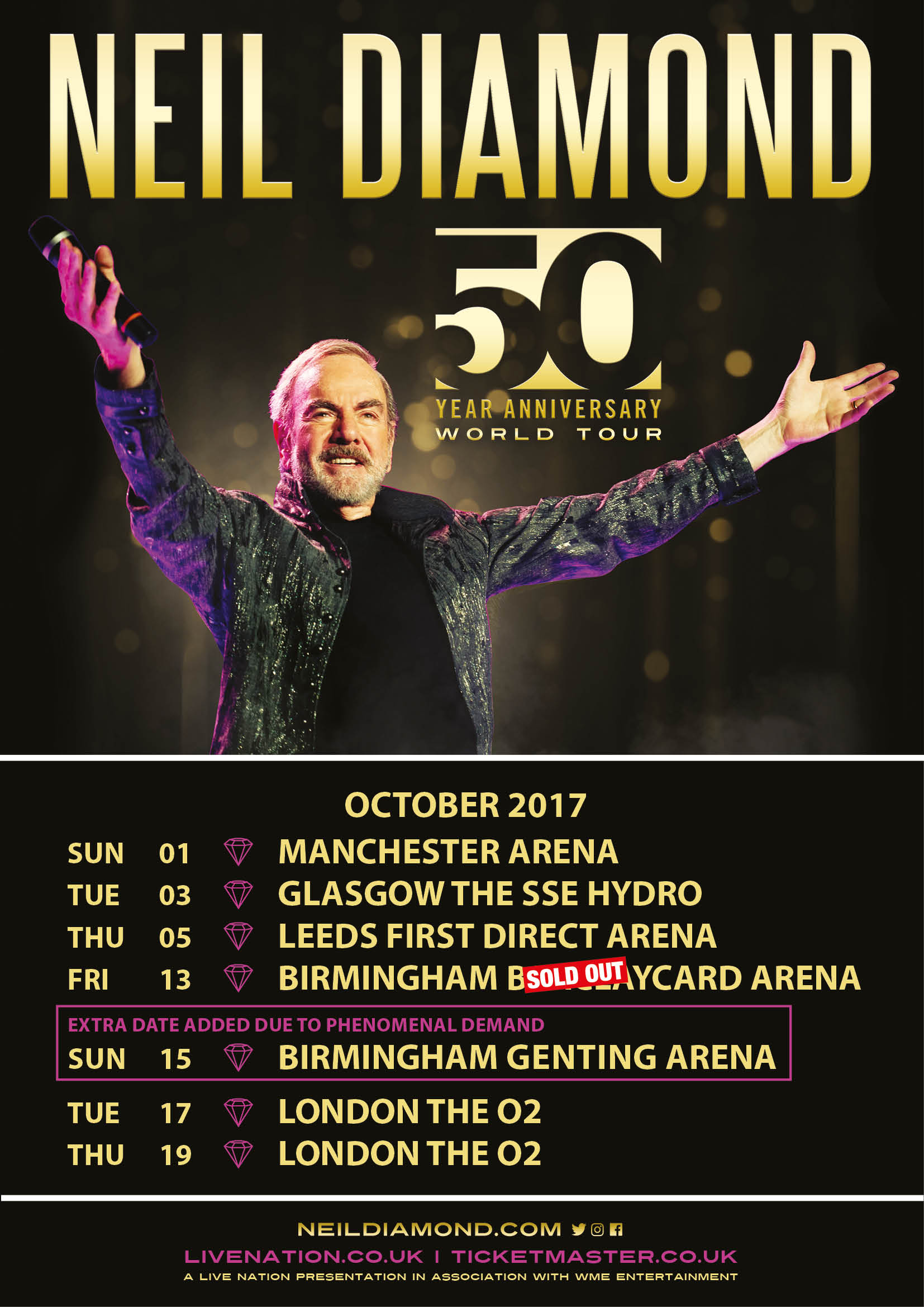 Buy Tickets To Neil Diamond S 50th Anniversary World Tour Smooth
