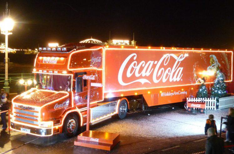 Coca-cola truck Christmas
