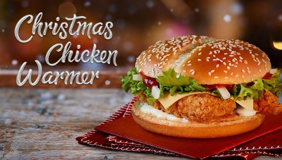 McDonalds Christmas menu
