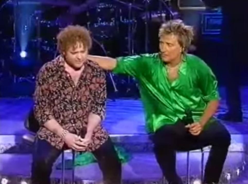 Rod Stewart and Mick Hucknall