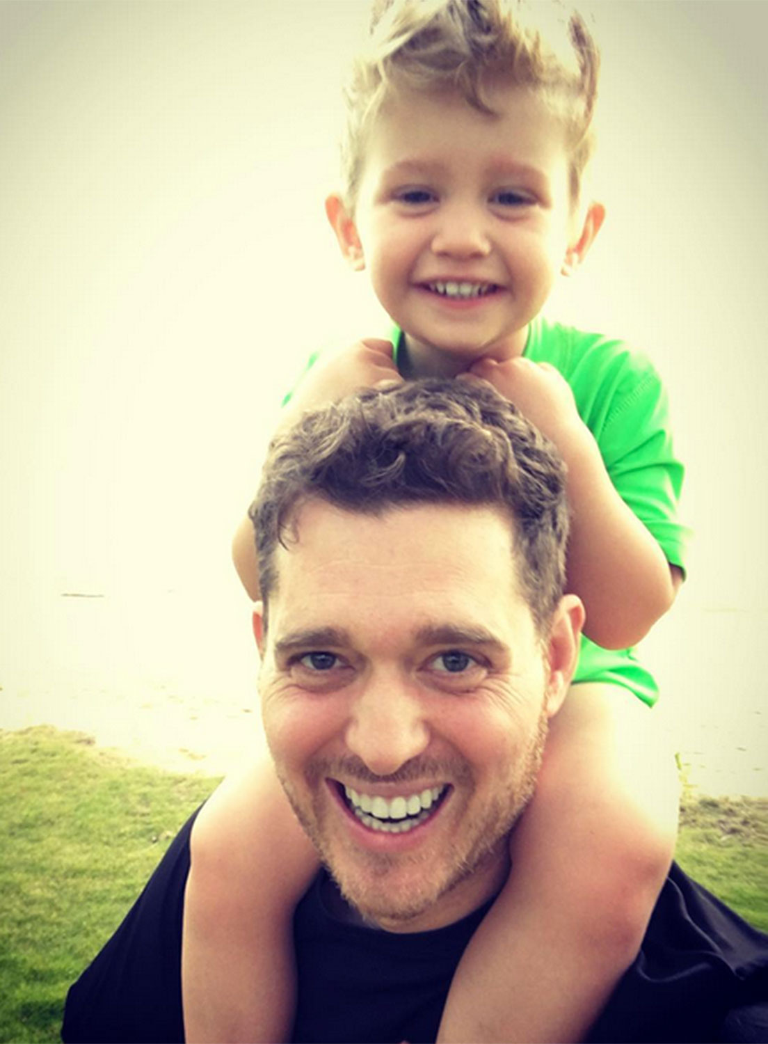 Michael Buble and son Noah