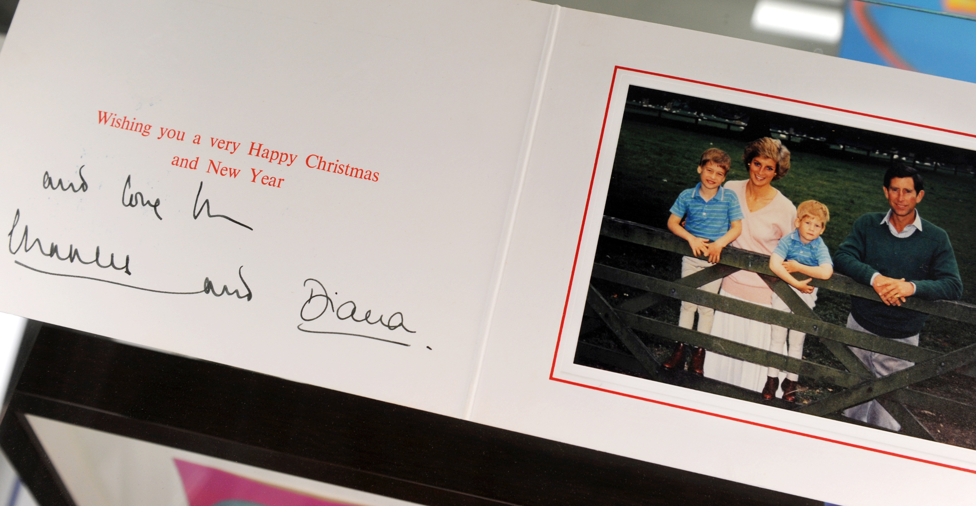 Charles and Diana Christmas card