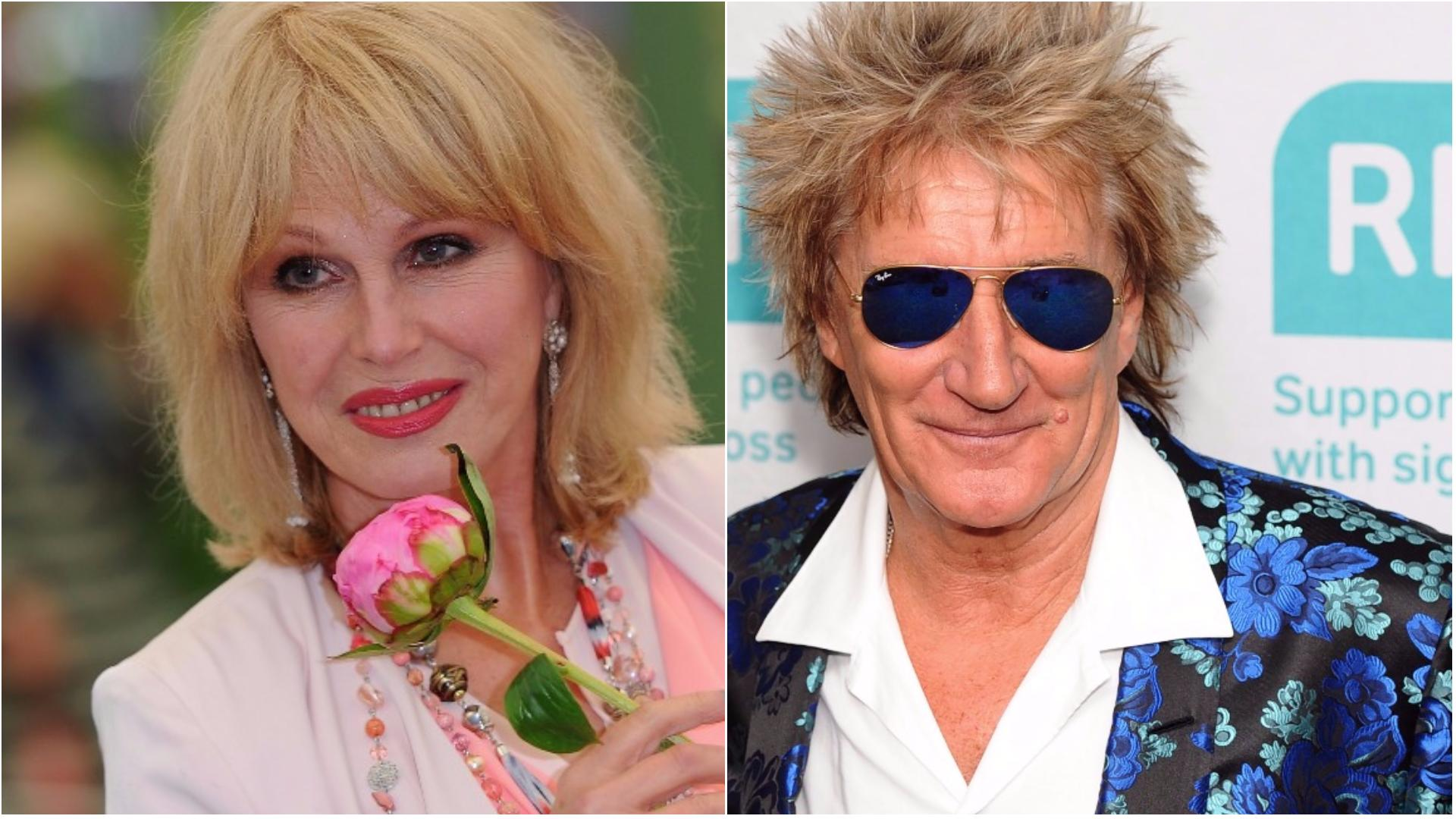 Rod Stewart and Joanna Lumley