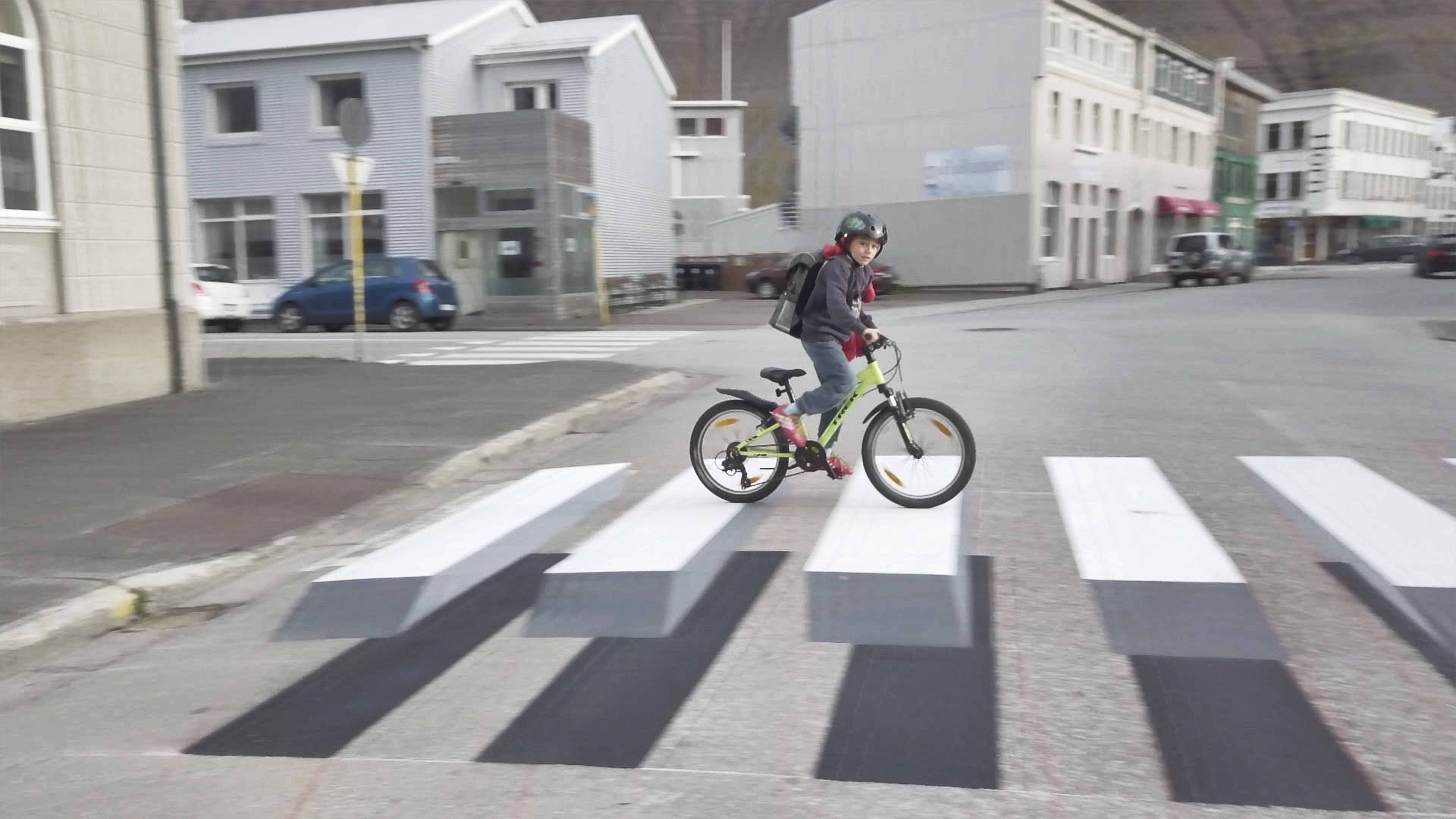 3D zebra crossing