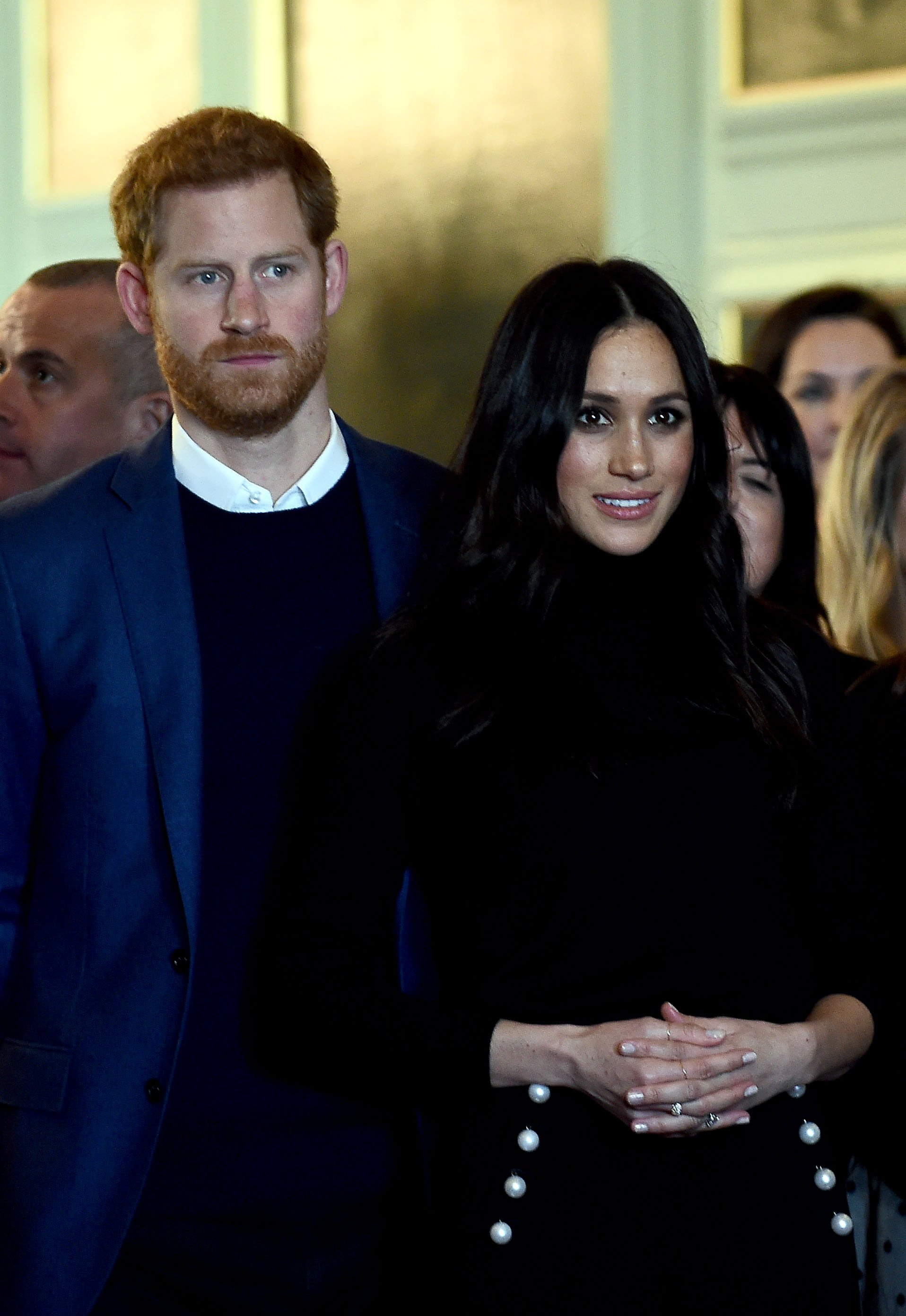 Prince Harry and Meghan Markle during a reception