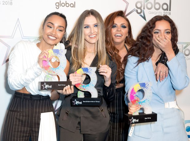 Little Mix Global Awards 2018 backstage