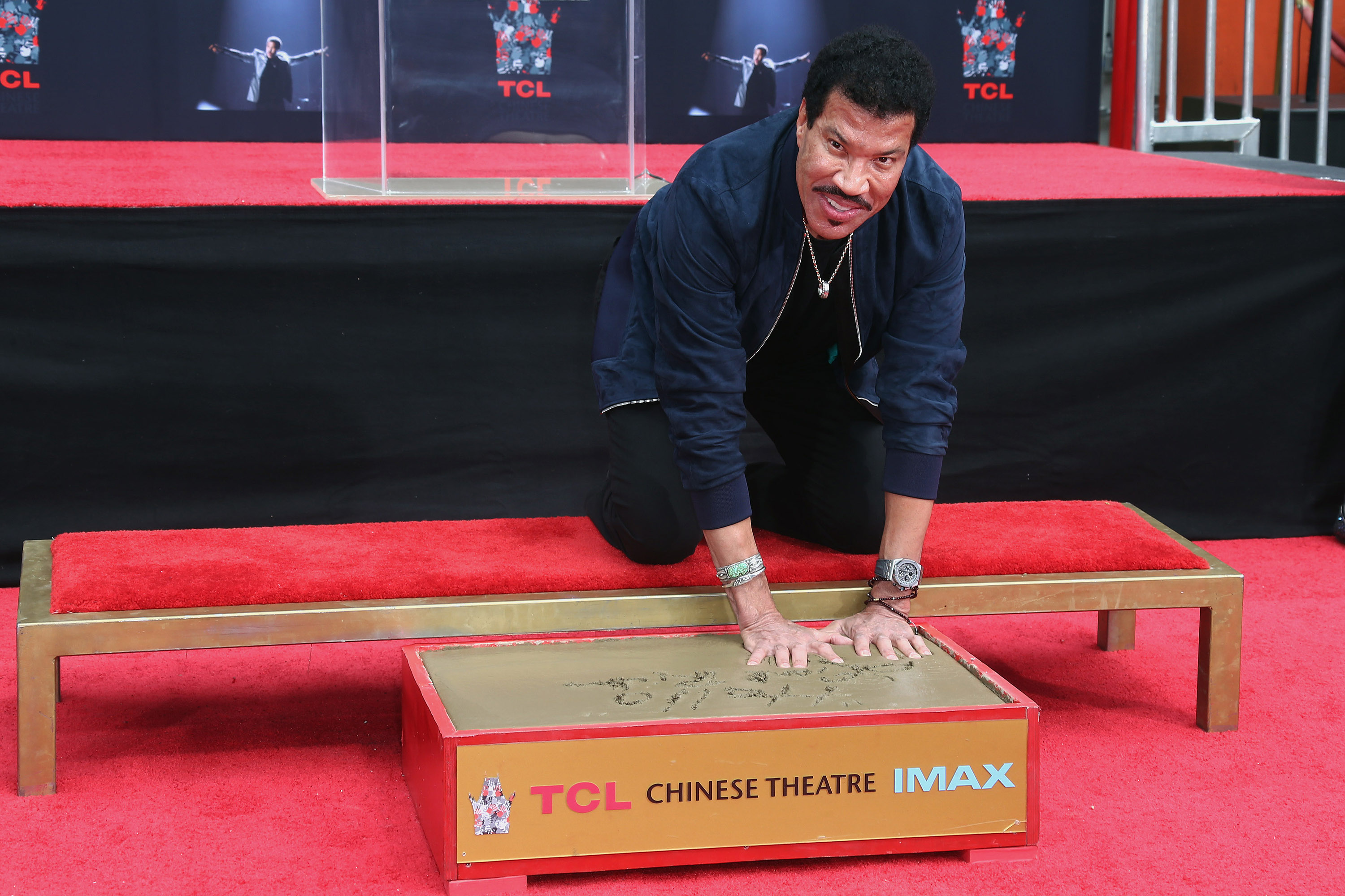 Lionel Richie handprint ceremony in Hollywood