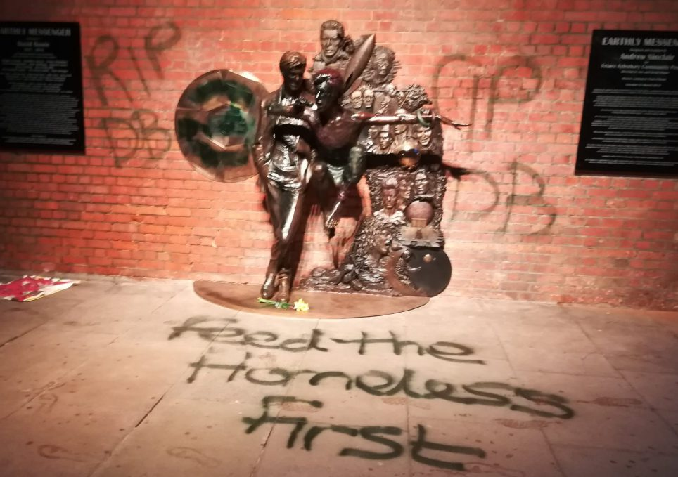 Bowie statue vandalised