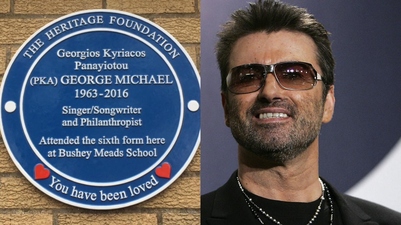 George Michael plaque